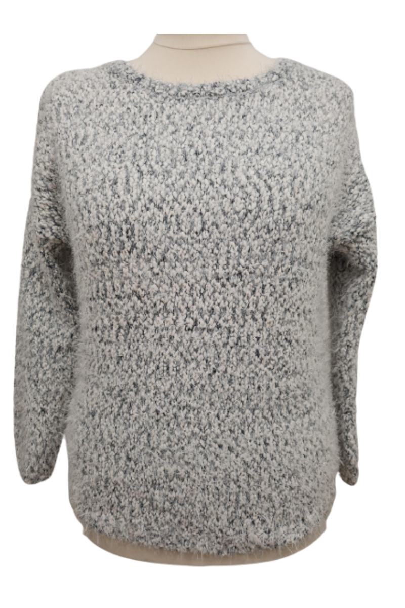 Atmosphere szürke vastag kötött pulóver