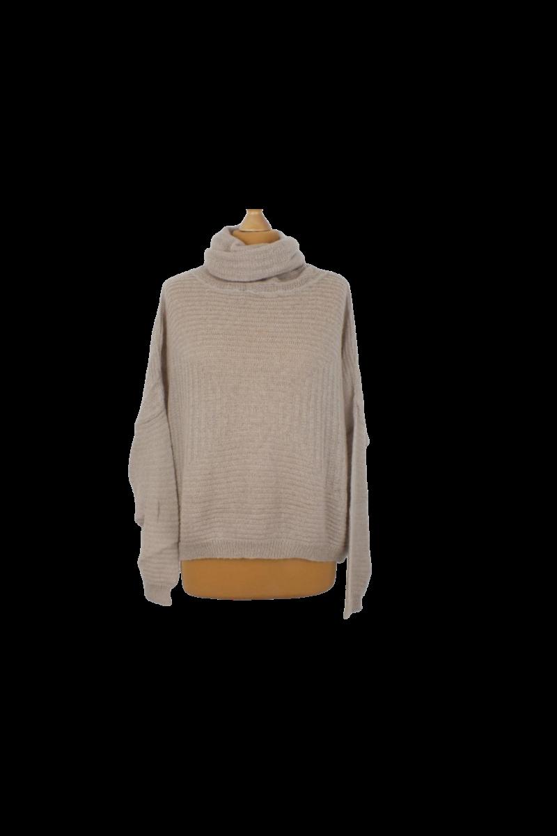 Benetton gyapjú rövid derekú pulóver
